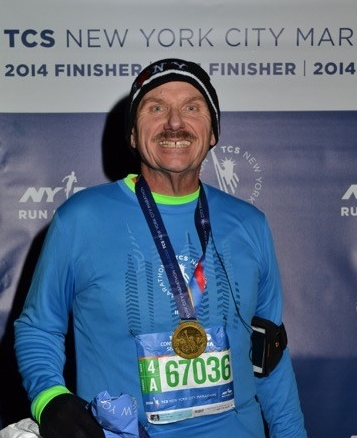 Mark Carpenter After Running NYC Marathon